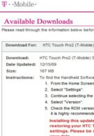 WM 6.5 upgrade for T-Mobile Dash 3G & Touch Pro2 surprisingly available now