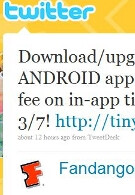 Fandango waives fee on movie tickets purchased through Android app