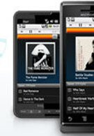 Rhapsody app advertisement shows HTC HD2 with Android