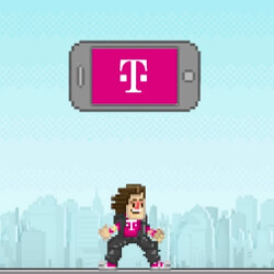 Move over Super Mario! Watch John Legere and crew take on the wireless industry in 8-bit graphics