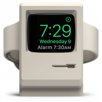 Awesome Apple Watch stand transforms your timepiece into an 80's Macintosh computer