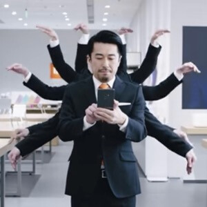 This is positively the craziest phone commercial we've seen