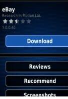 eBay app has updated additional support for BlackBerry smartphones