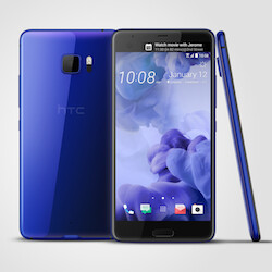 The HTC U Ultra with a sapphire finish will first be available for pre-order in mid-February in Taiwan