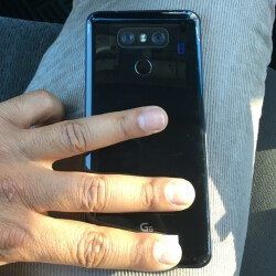 Photo of the LG G6 in the wild shows its glossy back