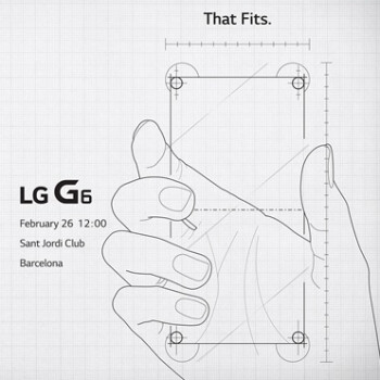 LG G6 teased in MWC 2017 invite: