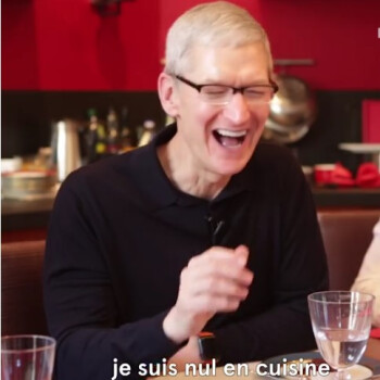 Tim Cook bad at cooking? Watch Apple's CEO discuss coding, art and microwaves over lunch in France