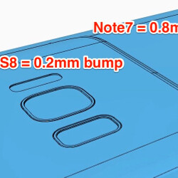 Alleged Galaxy S8 vs Note 7 vs S7 CAD schematics claim tiny camera hump on a thicker handset