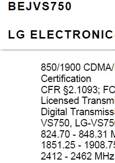 LG's VS750 passes the FCC but without GSM
