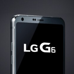 A real-life photo of the LG G6 front panel appears online