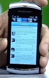 Video of the Sony Ericsson Vivaz showing Twitter and Facebook functions
