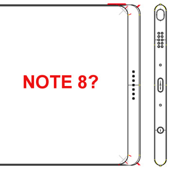 "Alleged Note 8 specs and schematics tip 6.4"" 4K display, 6GB RAM, mysterious perforations"