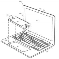 Picture from Apple patent shows iPhone docking into a MacBook shell