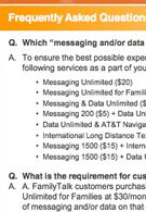 "AT&T is requiring $20 in data during purchase for a ""quick  messaging"" phone"