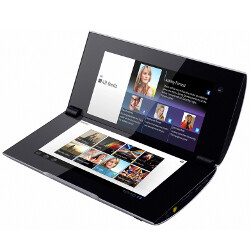 """Foldable"" Sony Tablet P featured two screens that could be used as one large display"