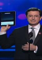 Apple iPad crashes the Grammy Awards, hidden in Stephen Colbert's jacket