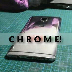 Witness this: OnePlus 3T in shiny chrome paint job pops up