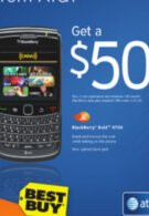 Best Buy offering $50 credit on any AT&T BlackBerry with activation at select locations