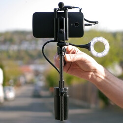 The miniRIG can help you shoot more stable, better lit and cleaner sounding videos with your phone or GoPro