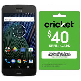Deal: Save $40 when you buy a Moto G5 Plus and a Cricket refill card