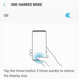 Here's how to enable one-handed mode on the Samsung Galaxy S8 and S8+