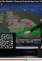 Android users: download The Weather Channel app by scanning your TV