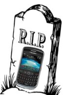 BlackBerry Curve 8900 has a one way ticket to cell phone heaven