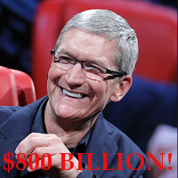Apple is now the first $800 billion company, Buffett the smartest guy in the room... again