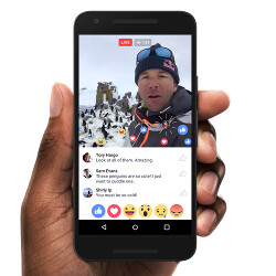 Picture from Facebook Live update adds new ways to interact with friends on Android and iOS