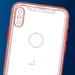 More CAD images of the Apple iPhone 8 surface