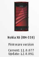 Nokia X6 owners can now update the firmware to v12