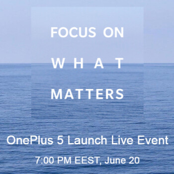 Official: OnePlus 5 will be announced on June 20 during a live event