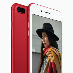 What color do you prefer on the face of a red smartphone?