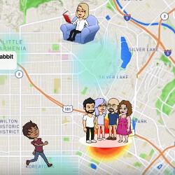 Picture from Snapchat's Snap Map shows you where your friends are and what they are doing