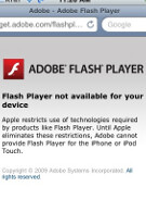 7 million attempts to download flash from iPhone/iPod Touch users in December
