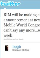RIM coming out with something big for MWC?
