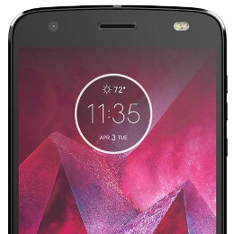 AT&T Motorola Moto Z2 Force leaks out, all sides visible