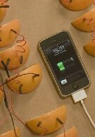 2,380 orange slices required to charge an iPhone