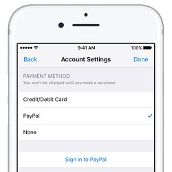 You can now pay with PayPal on the App Store, iTunes and Apple Music