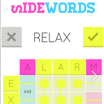 Big on word puzzles? Sidewords is a fresh new take, coming soon to iOS