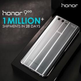 Honor has shipped 1 million Honor 9 units globally