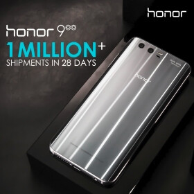 Honor has shipped 1 million Honor 9 units globally