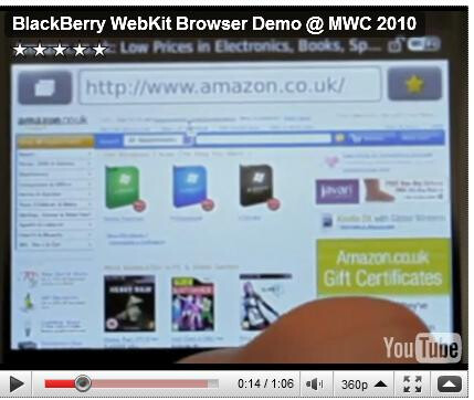 BlackBerry previews new WebKit browser
