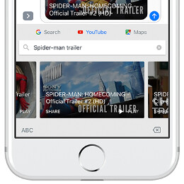 Google Gboard for iOS now integrates Maps, YouTube, and a drawing feature