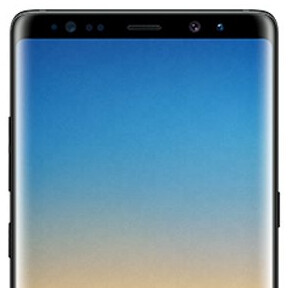This is the Samsung Galaxy Note 8 in Midnight Black