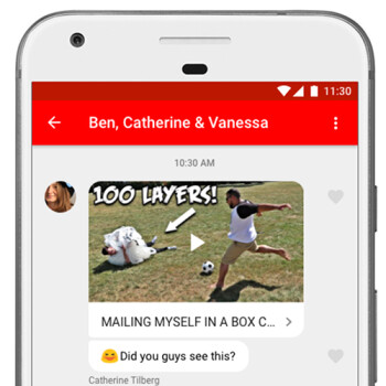 YouTube gains new in-app messaging feature for chat and video sharing
