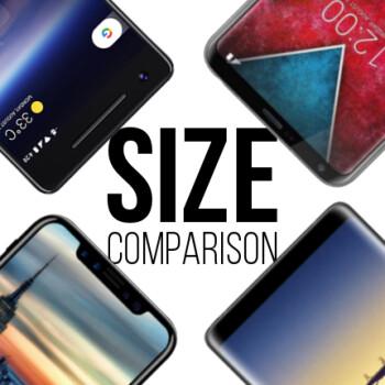 Google Pixel 2 vs iPhone 8 vs Galaxy Note 8 vs LG V30: size comparison