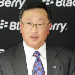 Here's Johnny! With a hot phone beside him, BlackBerry CEO Chen is working his magic