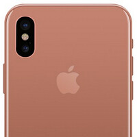 """High-quality iPhone 8 dummy in the new copper """"Blush Gold"""" color, up close and personal"""