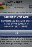 Apple ups the ante that allows apps up to 20MB in size to be downloaded over 3G